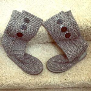 Gray UGG sock boots